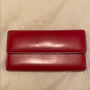 Lodis Red Leather Wallet